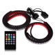 LST-AAL 4lines Colorful IR RF Music Bluetooth Control Automotive Ambient Light