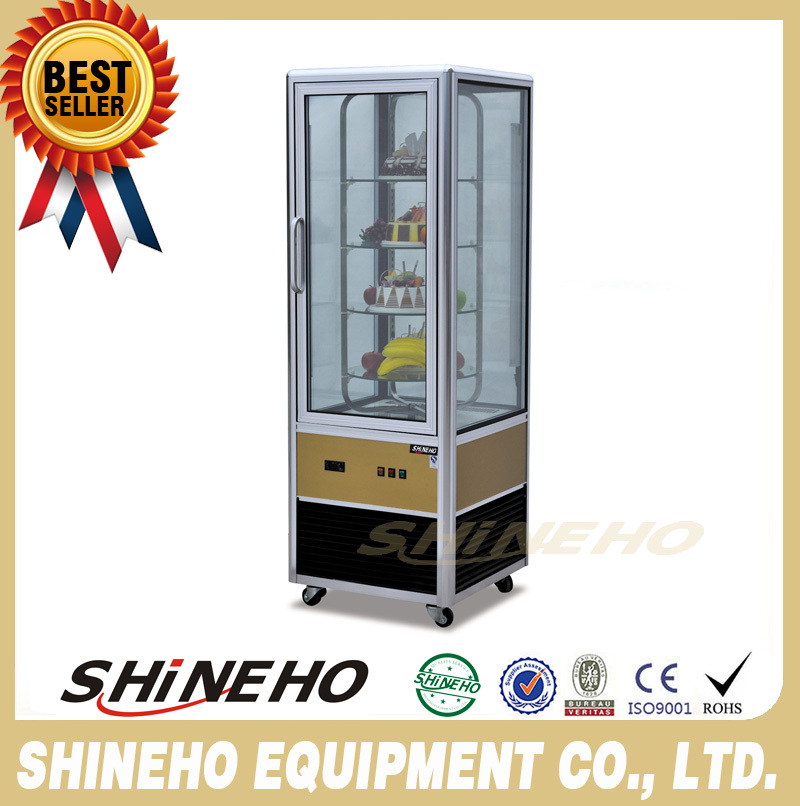 vertical showcase refrigerator/slim display cooler/cake display