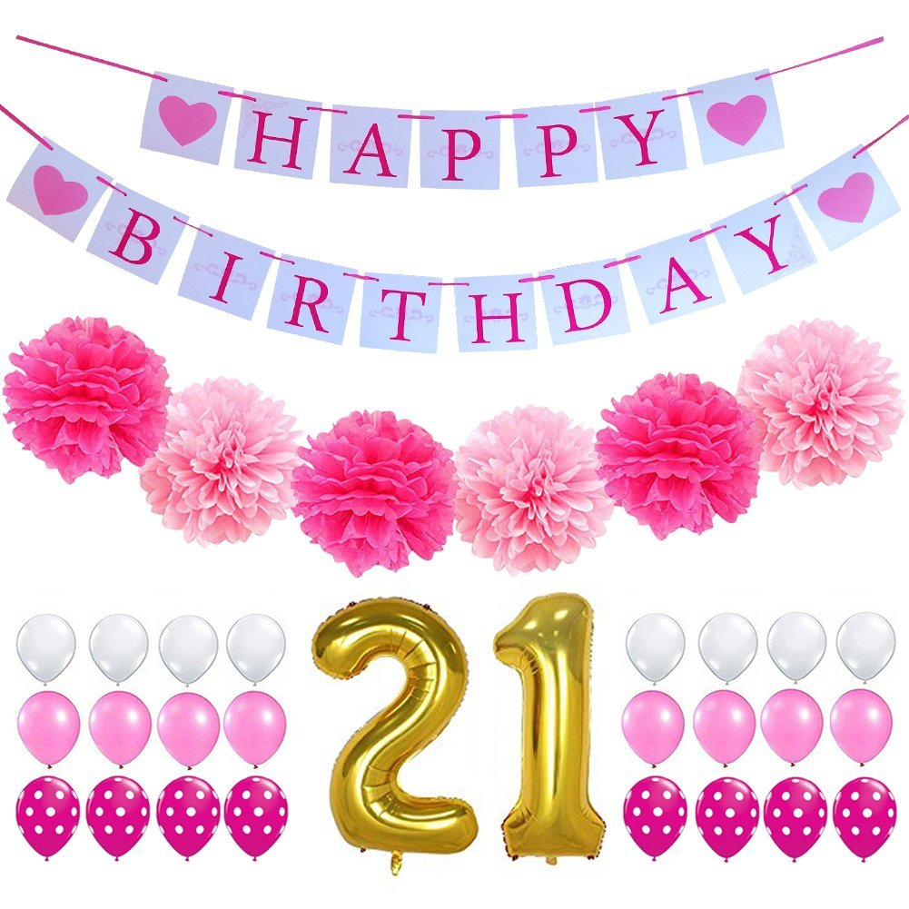 Get Quotations 21st BIRTHDAY DECORATIONS PARTY KIT
