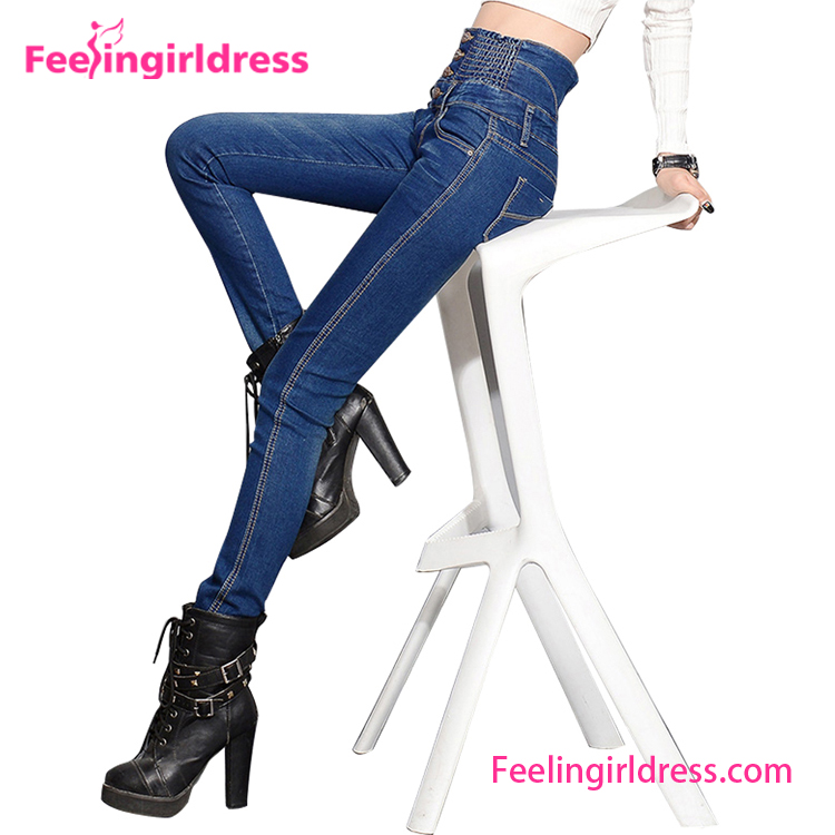 China Wholesale Cheap Pent Style Fancy Girl Jeans