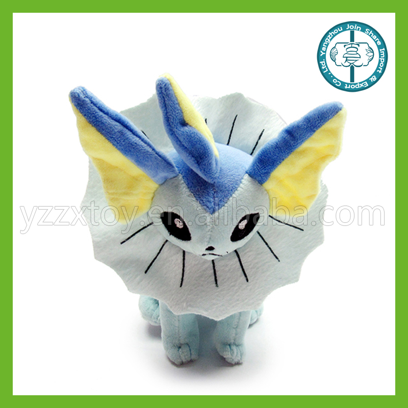 Newest design wholesale Vaporeon pokemon <strong>plush</strong> with low price
