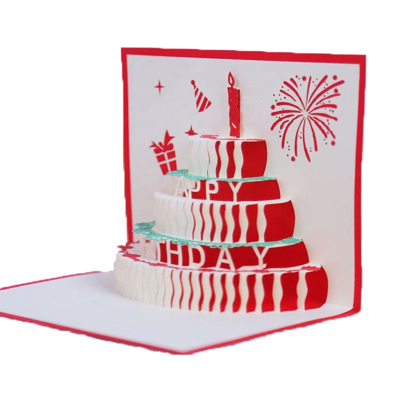 Customized Specialty paper card invitation card design musical with red light card