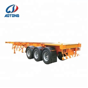 2 / 3 axles 20ft /40ft frame skeleton container chassis trailer with twist locks