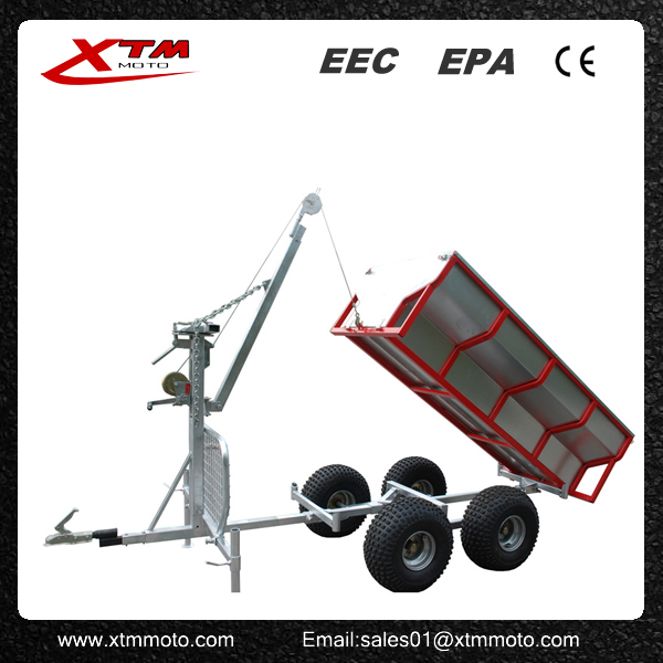 China atv timber trailer with crane