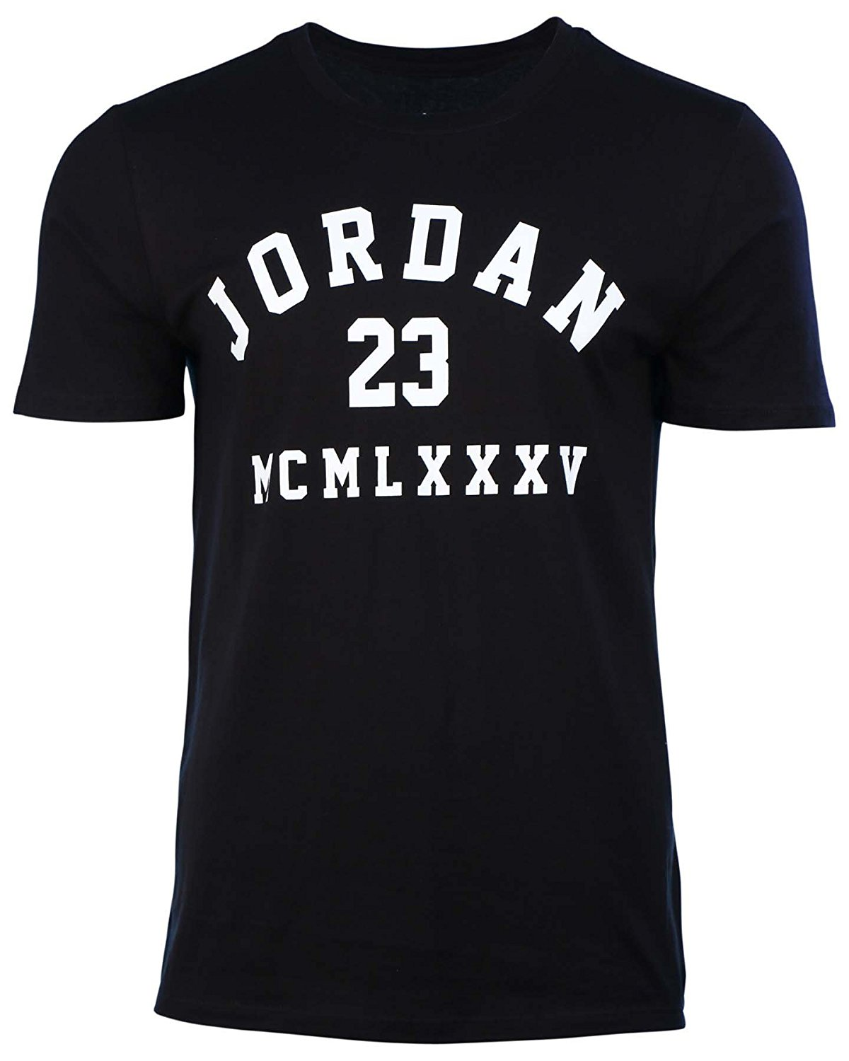 29e4fa820c1 Get Quotations · Jordan Men s Nike 23 MCMLXXXV Basketball T-Shirt-Black-XL