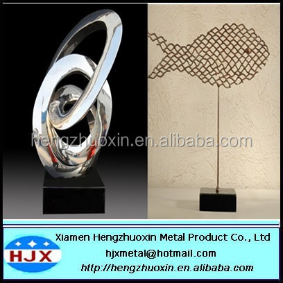 Stainless steel plating fish furnishing articles metal sculpture handicraft