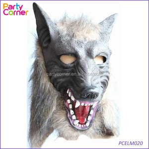 Faux Werewolf Mask Wolfman Masks Latex Costume Prop Halloween Novelty Wolf