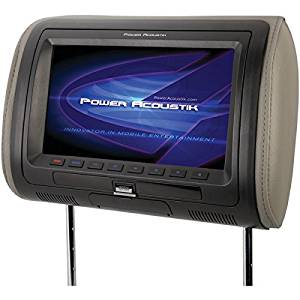 """POWER ACOUSTIK HDVD-71HD 7"""" Universal Headrest Monitor with IR & FM Transmitters, MHL(R) MobileLink & 3 Interchangeable Skins (With DVD Player)"""