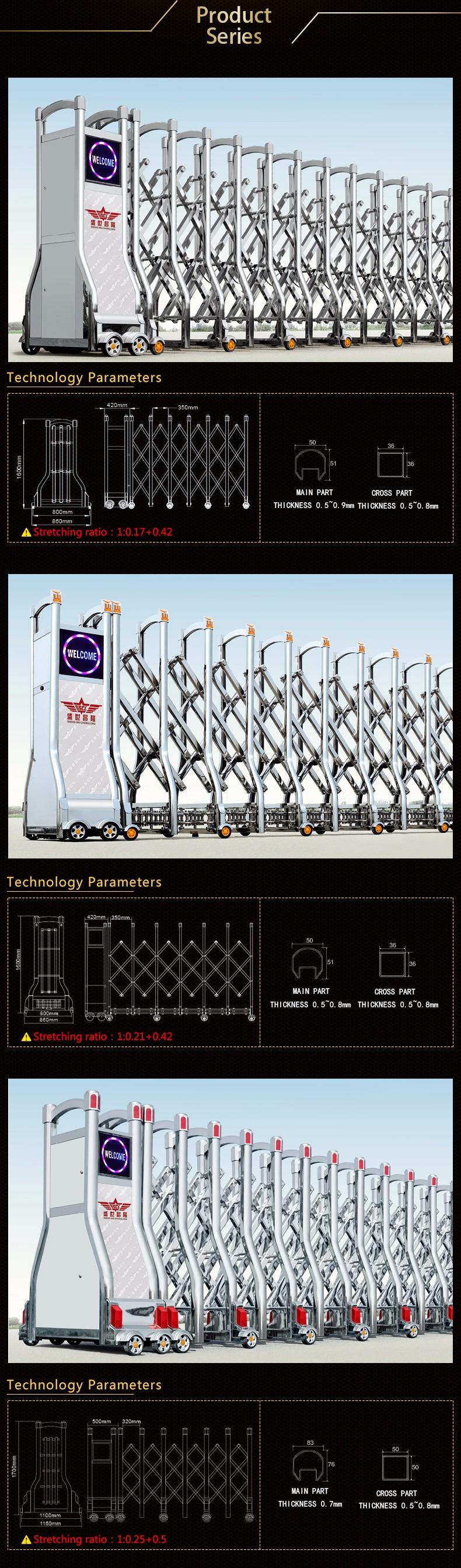 Best-seller de aço inoxidável Industrial portão retrátil para o portão de entrada principal para a fábrica