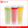 Hot selling 400ml plastic double wall water cup with lid (KL-5007)