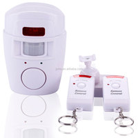 with 2 Remote Control Wireless IR Infrared/PIR Motion Sensor Motion Detector Alarm