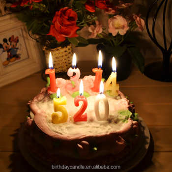 CAKE DECORATION Number Candle C012 CE MAGIC Digit Birthday