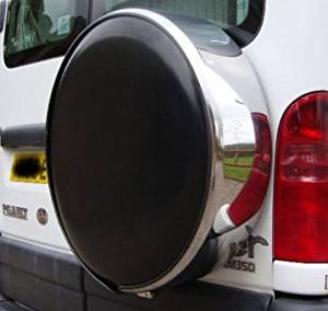 4X4 WHEEL COVER STEEL METAL WITH LOCK AND KEYS TO FIT REAR SPARE TYRE TIRE WHEEL COVER FOR ALL CARS, VANS, CARAVANS