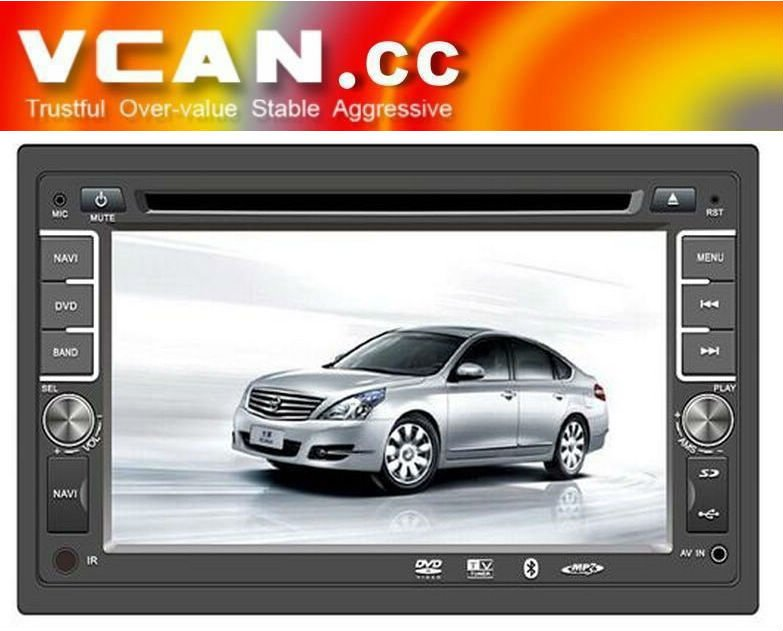 6.2 inch in dash 2-din digital touch screen car DVD GPS radio Bluetooth SD MP3 VCAN0199-10