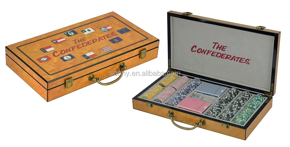 Silk Screen logo 300PC Wooden Poker Chips Set In Stock Wholesale