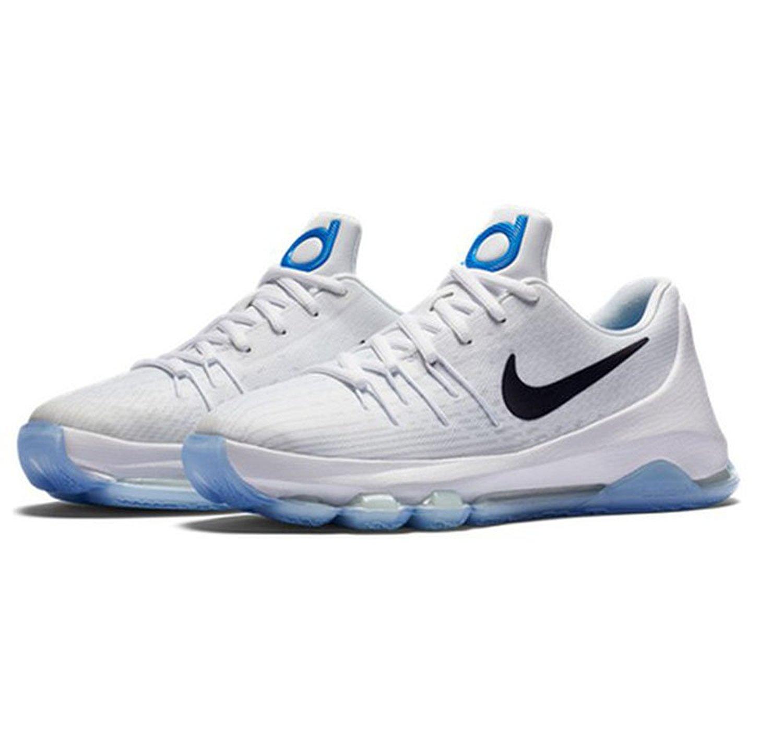 san francisco 21087 b1d18 768867-145 Nike KD 8 GS White/Midnight Navy-Photo Blue size 5.5y