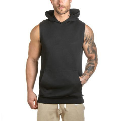 Blank Hoodies Wholesale Gym Sleeveless Hoodie/hoodies Of Fitness ...