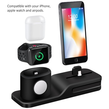 New Arrival Smart Charge Station for Apple Watch, 3 IN 1 Charging Pad Holder for Air pod and iPhone