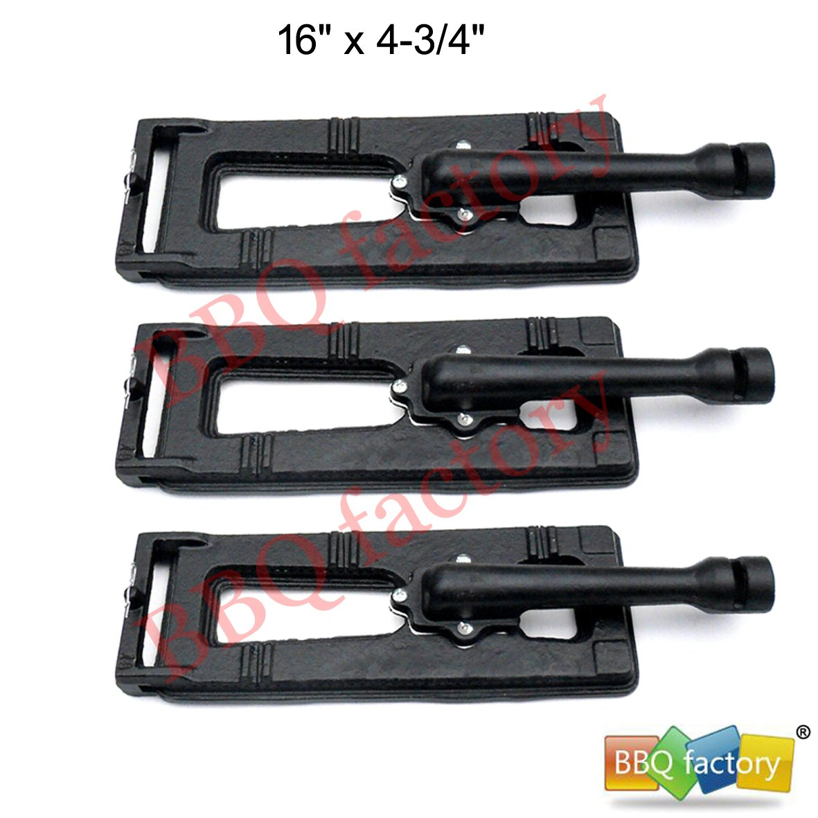 bbq factory Replacement Cast-Iron Grill Pipe Burner JBX251(3-Pack) Select Gas Grill Models by Sam's Club,Members Mark, Bakers and Chefs, Grand Hall, and Others