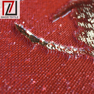 Reversible fish scale fashion sequins embroidery fabrics