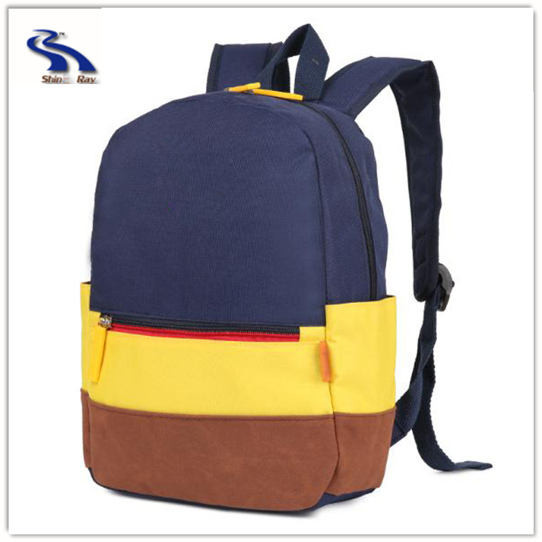 Fashion durable custom made brand name backpack kids school bag