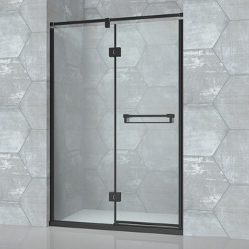 Black Steel Frame Hinge Gl Shower Door D81 Framed Doors Product On Alibaba
