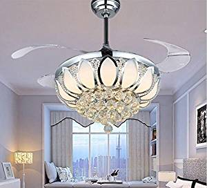 luxury ceiling fans. Get Quotations · Luxury Modern Crystal Chandelier Ceiling Fan Lamp Folding Fans With Lights Chrome E
