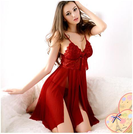 e16b2218bc4 2016 Hot Sale Women Spaghetti Straps Mesh Lace Slips Sexy Nightwear ...