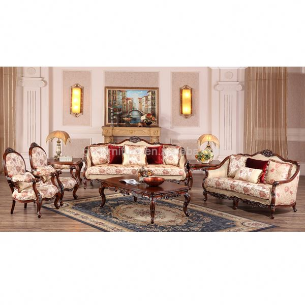 Turkish Sofa Set Wood High End Clical Wooden Luxury Clic Furniture