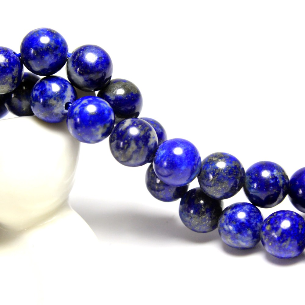 Tryme New AAA+ Round Natural lapis lazuli Stone Beads For Jewelry Making Bracelet DIY Material Stone 4/ 6/8/10 /12 mm Strand 15. фото