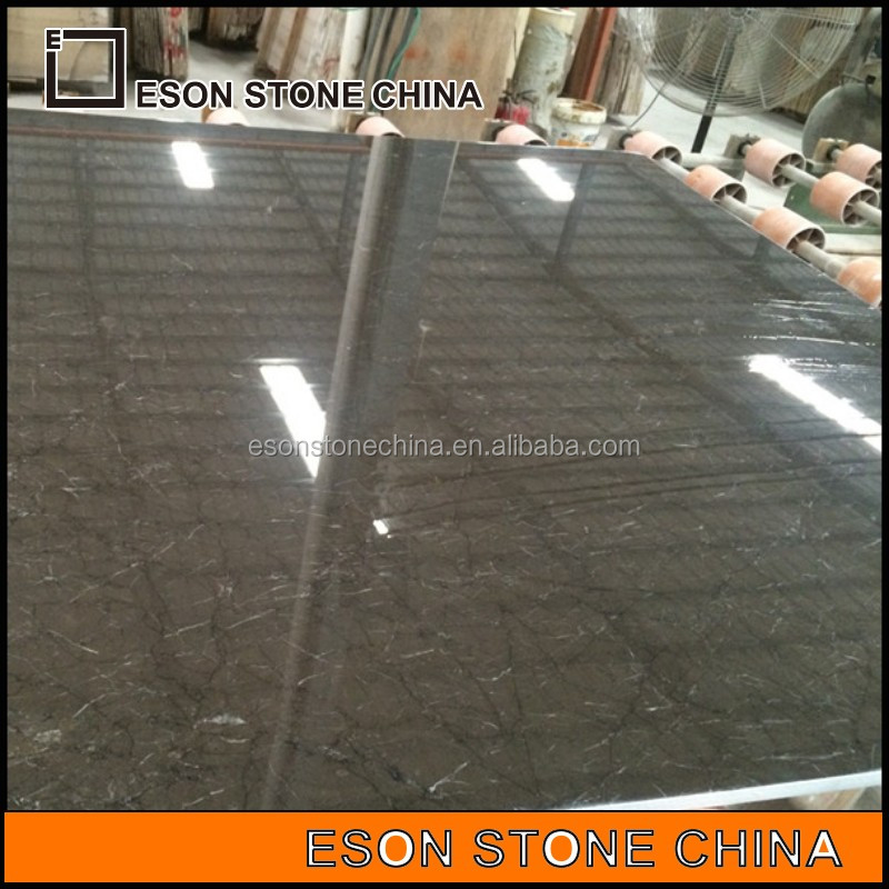 Eson Stone dark olive marble slabs, grey marbles for flooring