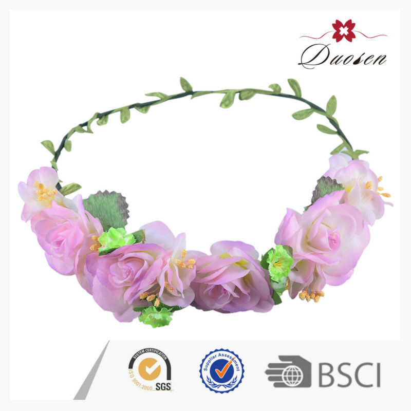 Full Color Outdoor Bridal Wreath For Valentine Day