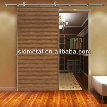 New European Modern Residential Stainless Steel Wood Sliding Barn