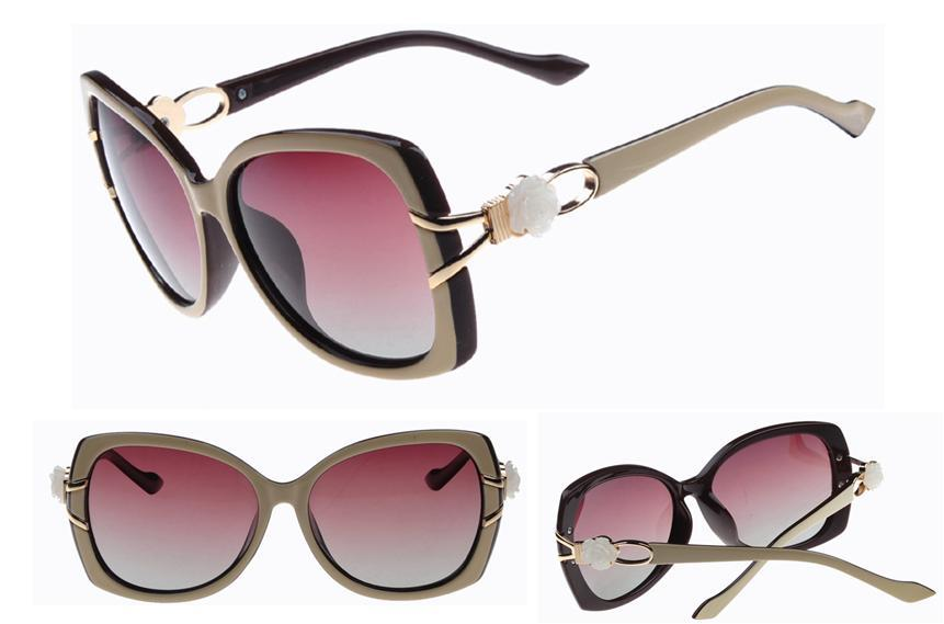 Hot  2015 polarized women sunglasses with flower women's glasses for driving oversized oculos vintage retro shades eyewear