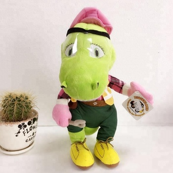 50411a1ea6b Plush Stuffed Animal Toys Huge Boy Dinosaur With Clothes And Hat ...