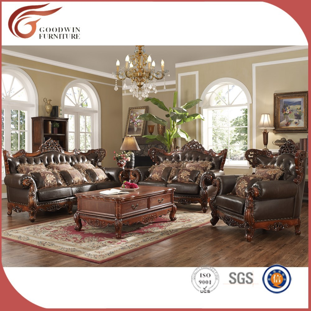 High End Classic Living Room Furniture Sofa