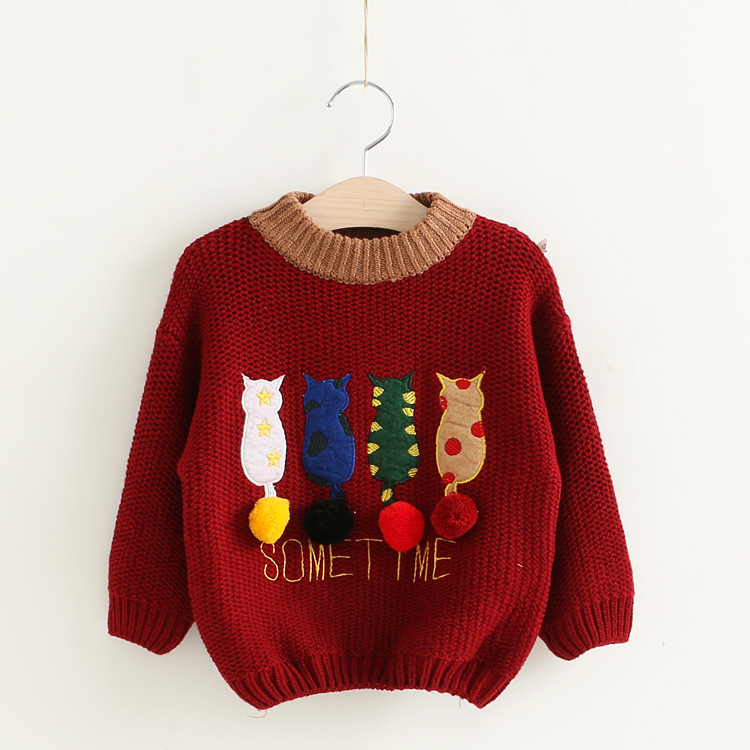 Hot Sale Infant Girls Boys Wear Children Kids Knitted Pullovers Outerwear Long Sleeve Baby Winter Sweater