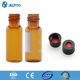 Laboratory analysis chromatography 2ml amber hplc vial+cap with nature PTFE/red rubber septa