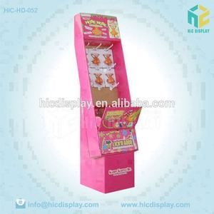 Unique Printed Advertising Cardboard Child Toys Paper Display Stand With Hooks