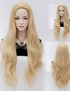 Wigs have an attractive convenience fashion Fashion Blone Natural Wave Lady Wigs Hair Synthetic Hair Wigs