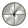 Home Decoration Wrought Iron Modern Large Round Mirror Wall Clock
