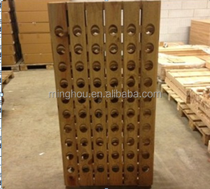 Rustic riddling wood wine rack with 24-120 bottle wine display shelf
