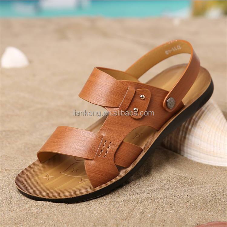 wholesale super soft and comfortable leisure PU men summer sandal