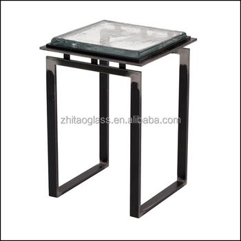 Stunningly design cast glass exotic coffee table