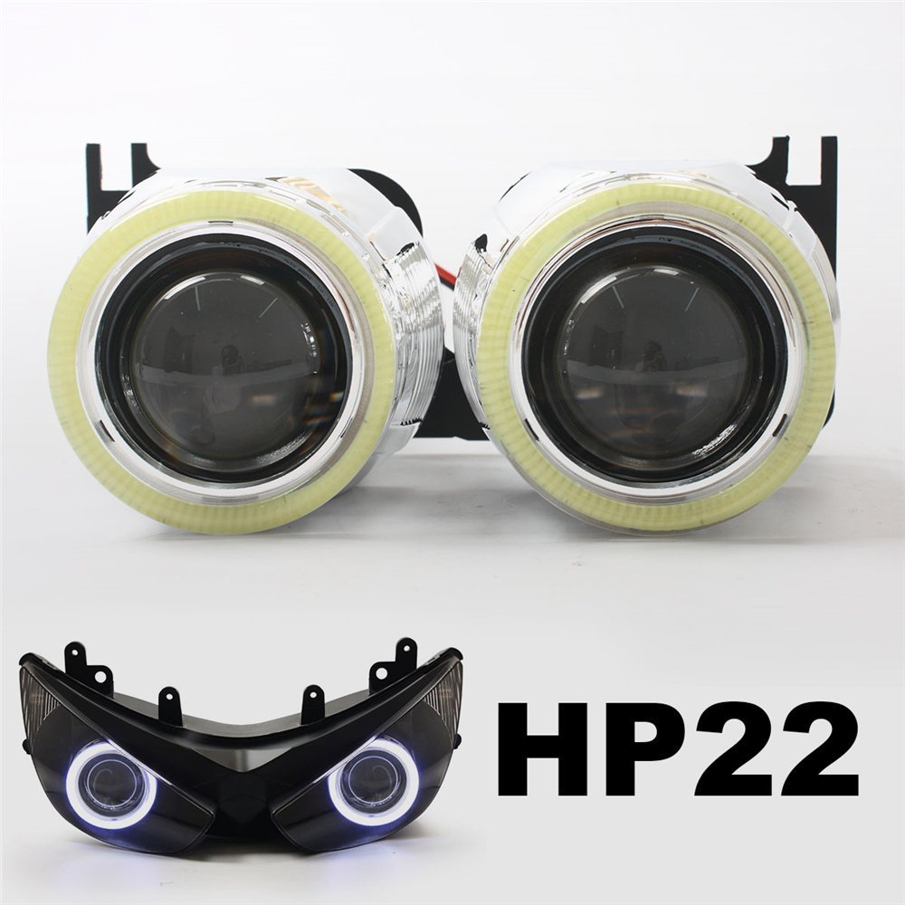 KT Tailor-Made HID Projector Kit HP22 for Kawasaki ZX-6R 2005-2006 White Angel Eye