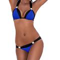 Female Ladies Sexy Bathing Suit Micro Halter Push Up Brazilian Bikini Large Size Trikini High Cut
