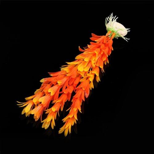 ews plante artificielle aquatique plastique orange decoration deco aquarium in decorations from. Black Bedroom Furniture Sets. Home Design Ideas