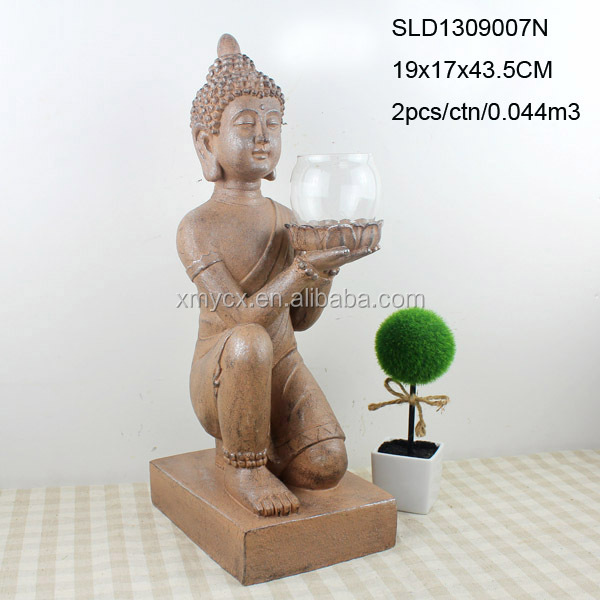 Buy Antique Handcrafted Buddha Lantern For Corporate: Buddha Statue Table Decorations In Vintage