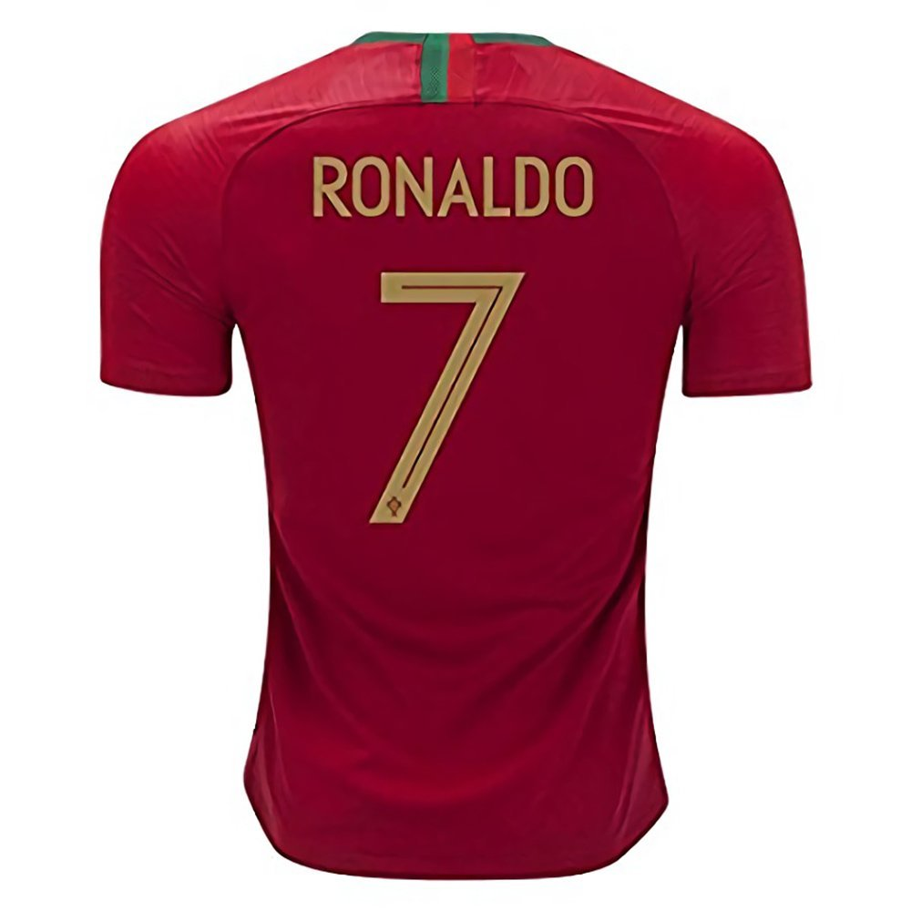 413a23ac0 Get Quotations · National 2018 World Soccer Team Cup Portugal Ronaldo 7  Home Stadium Mens Jersey Size S