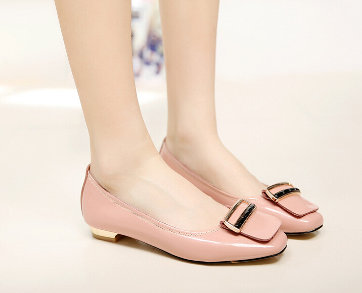 7d7ada407f94 Get Quotations · 2015 women shoes new leather shoes woman patent with flat  shoes women shoe big yards square